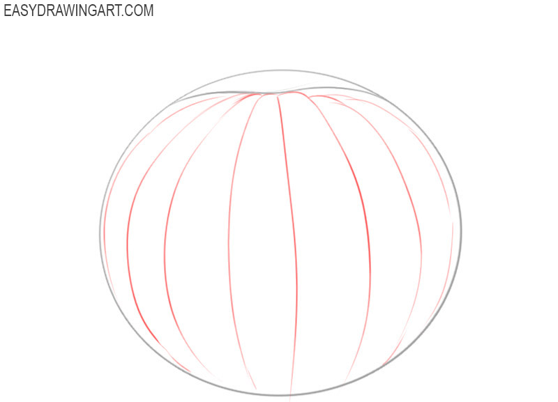 how to draw a basic pumpkin