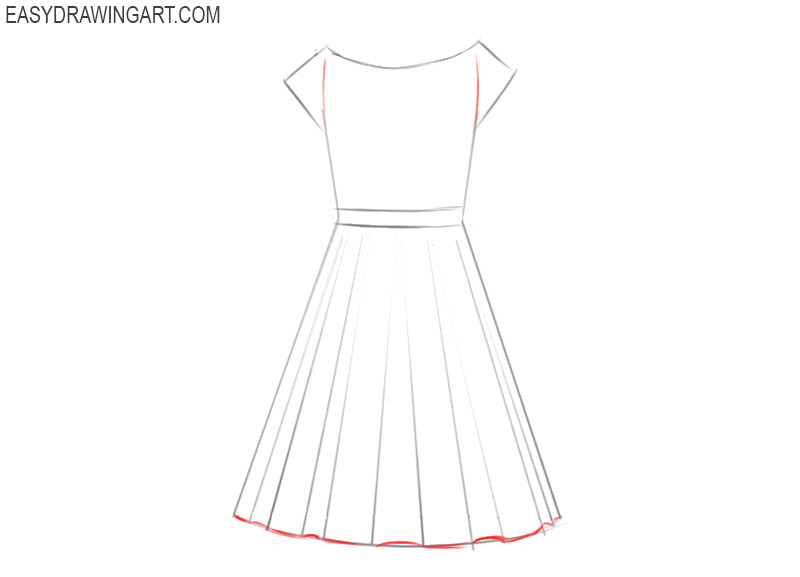 How To Draw A Dress Easy Drawing Art