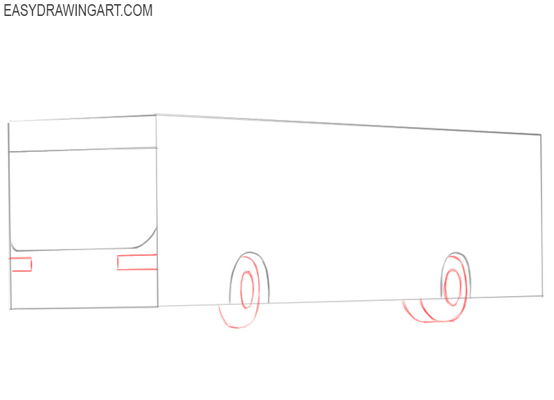how to draw a big bus