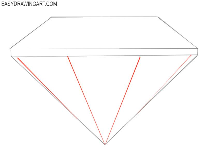 how to draw a blue diamond