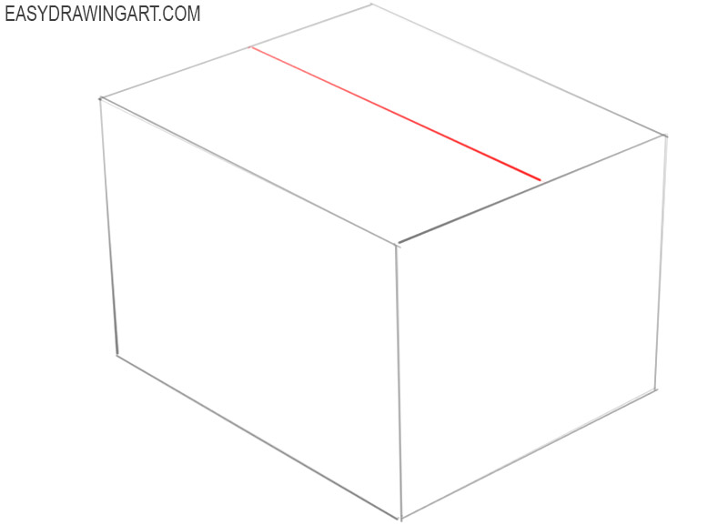 how to draw a box step by step