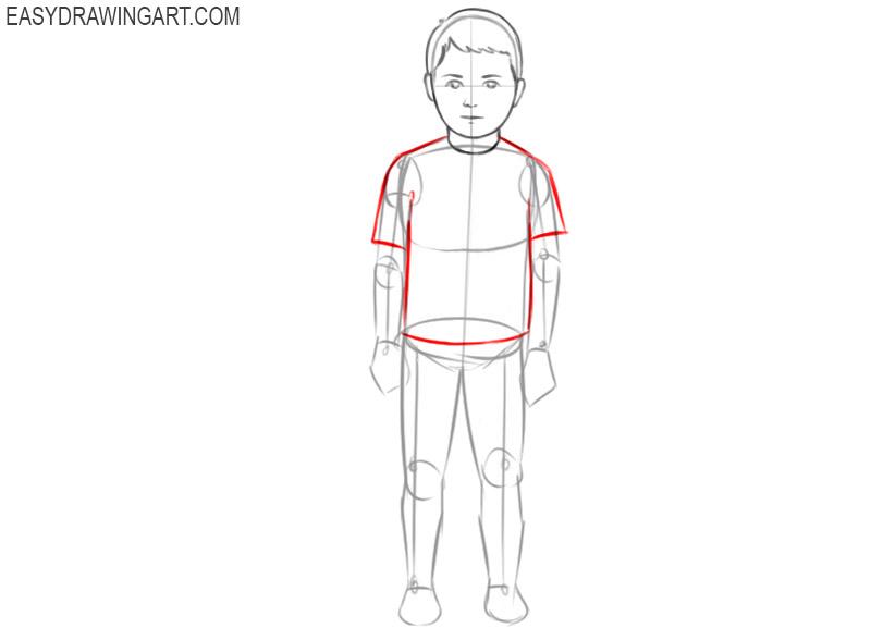 how to draw a boy draw so cute