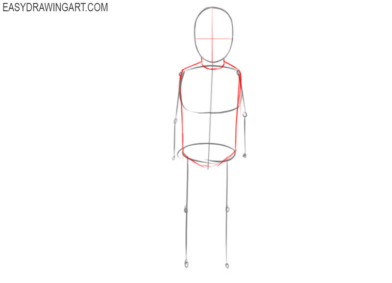 how to draw a boy standing