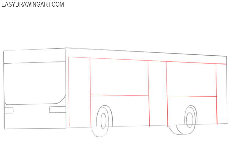 how to draw a bus for beginners