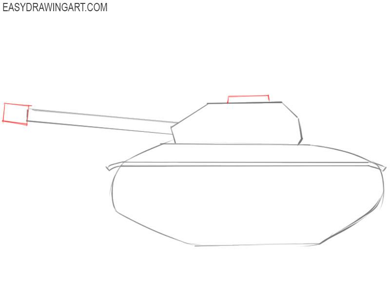 how to draw a cartoon army tank