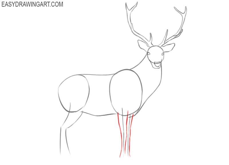 how to draw a cartoon deer step by step easy