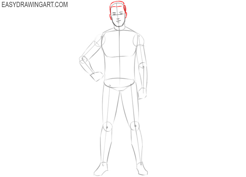 how to draw a cartoon football player step by step