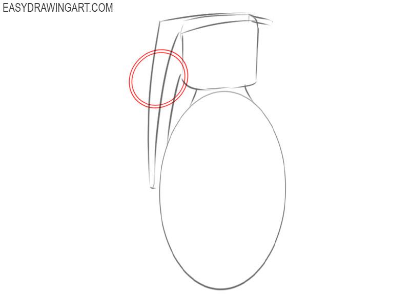how to draw a cartoon grenade