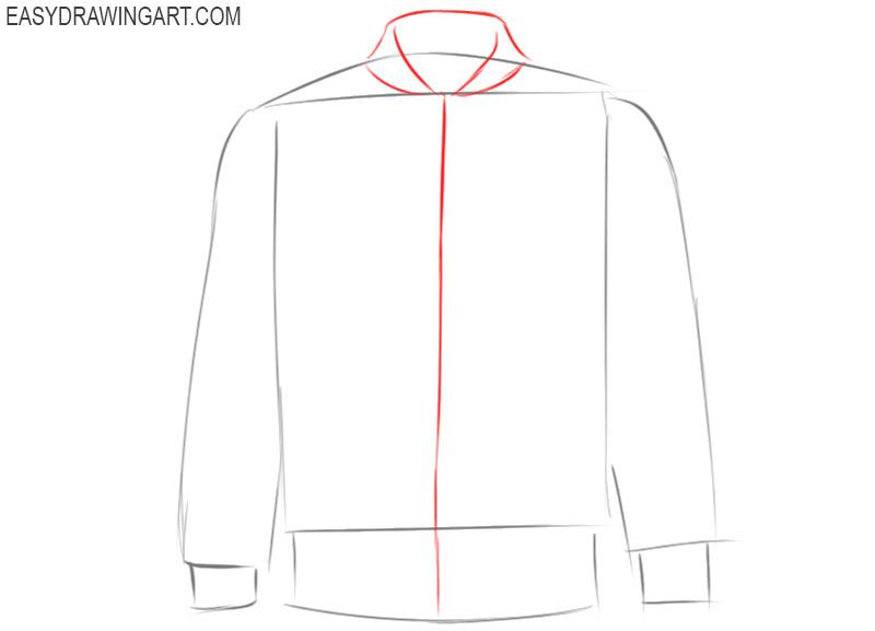 how to draw a cartoon jacket