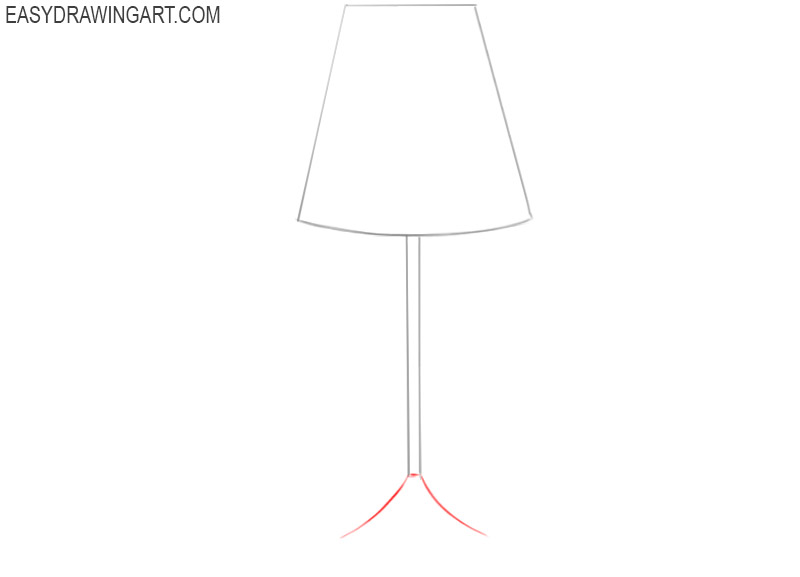 how to draw a cartoon lamp