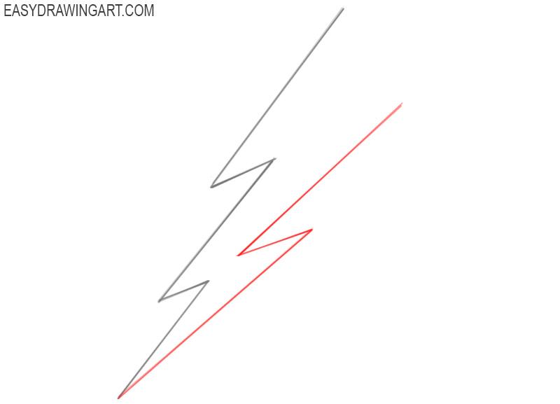 how to draw a cartoon lightning bolt