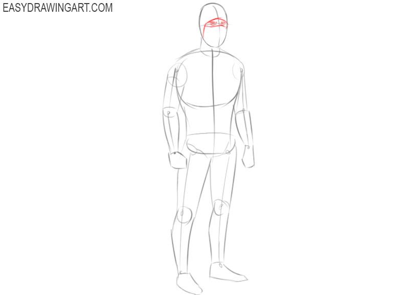 how to draw a cartoon ninja step by step