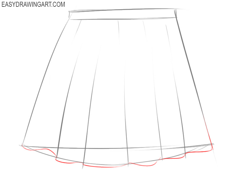 how to draw a cartoon skirt