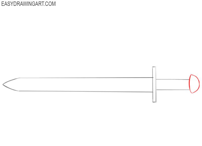 how to draw a cartoon sword