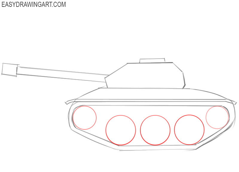 how to draw a cartoon tank step by step