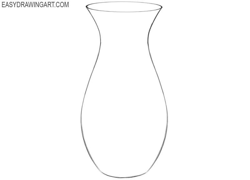 how to draw a cartoon vase