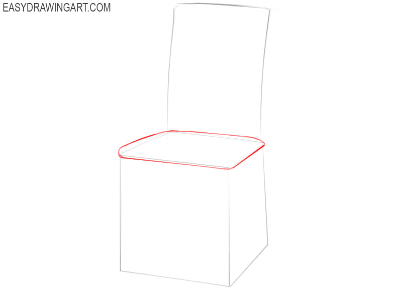 how to draw a chair for beginners
