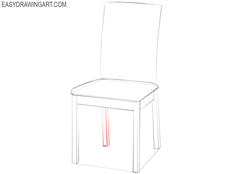 how to draw a chair sketch