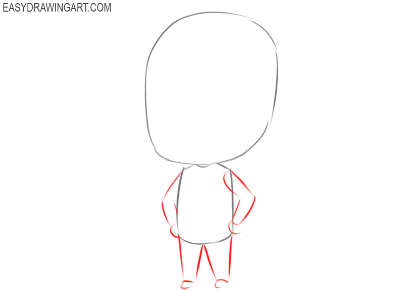 how to draw a chibi character step by step
