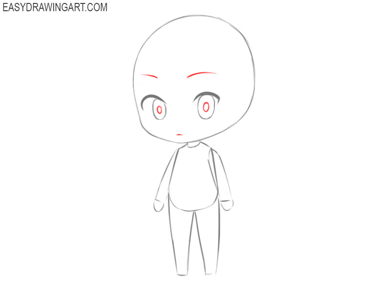 how to draw a chibi girl for beginners