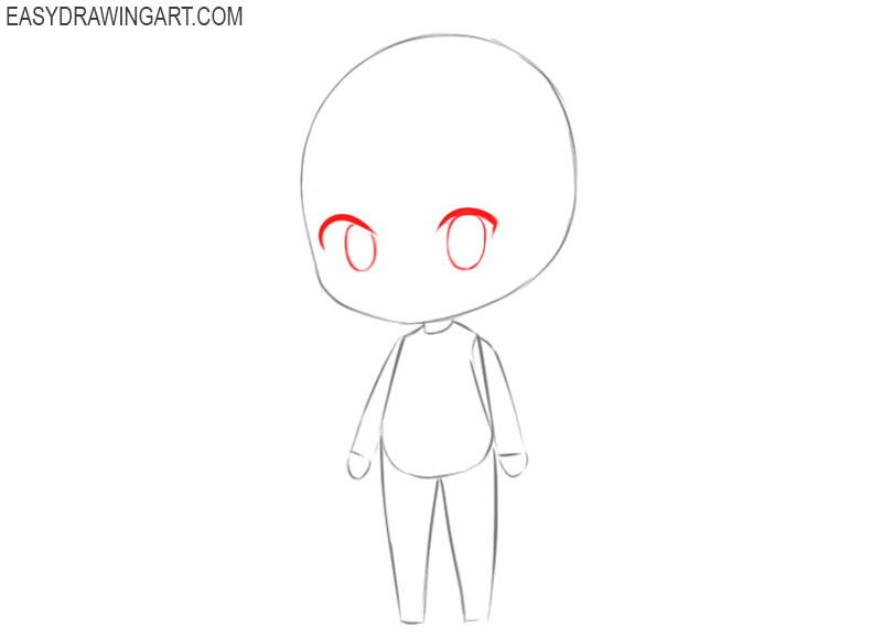 how to draw a chibi girl in a dress
