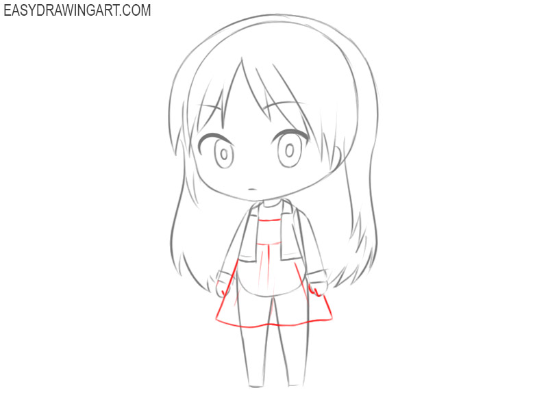 how to draw a chibi girl step by step