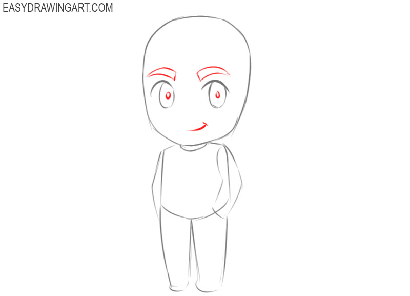 how to draw a chibi guy