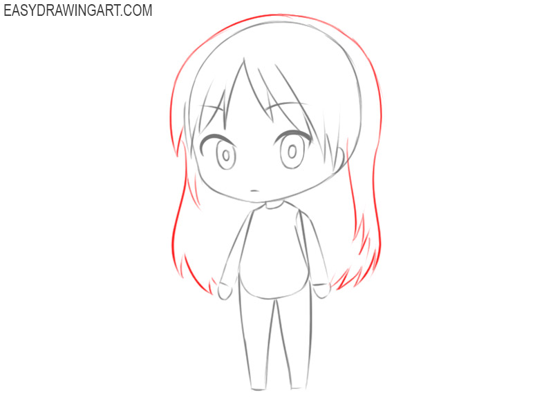 how to draw a chibi kawaii girl
