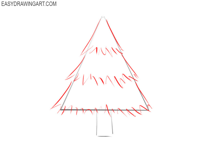 How to Draw a Christmas Tree | Easy