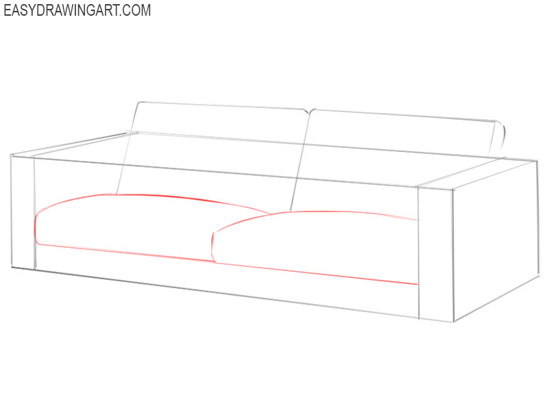 how to draw a couch easy step by step