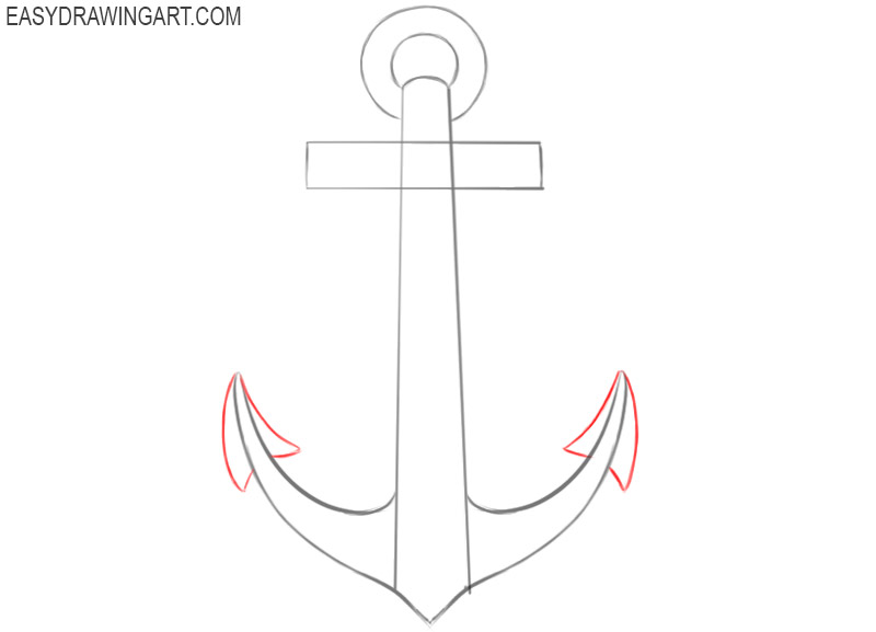 how to draw a cute anchor