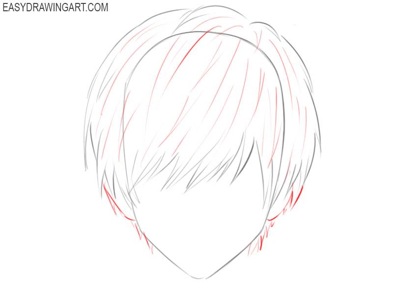 how to draw a cute anime hair
