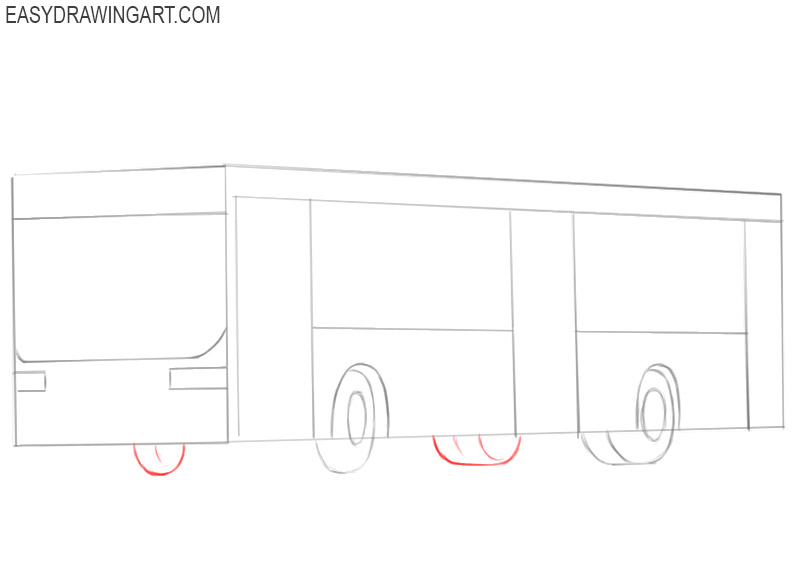 how to draw a cute bus
