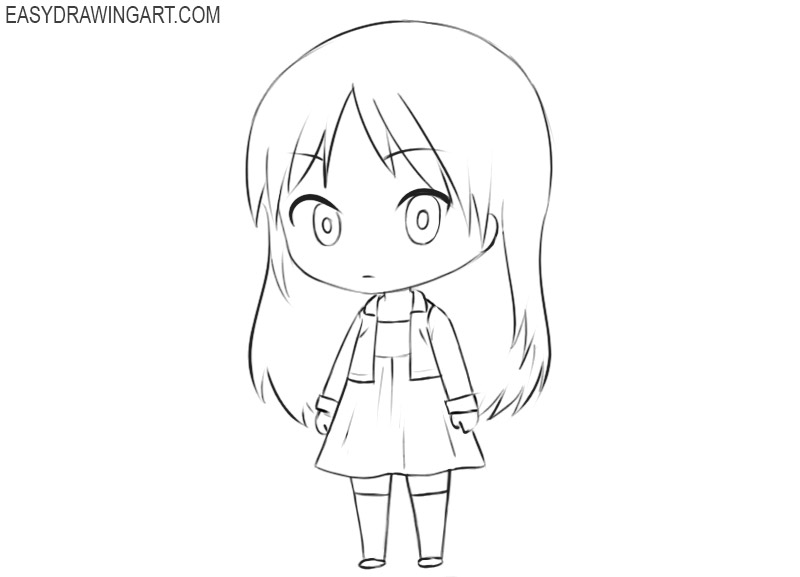 how to draw a cute chibi girl step by step