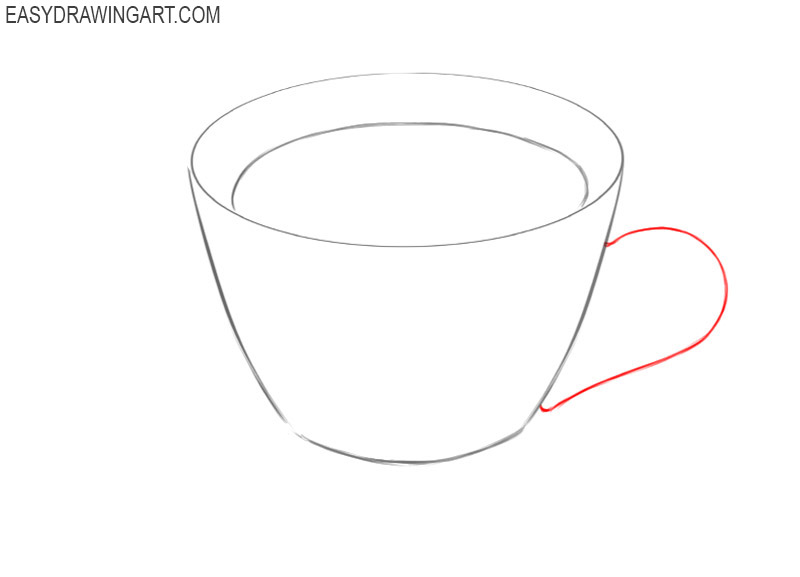 how to draw a cute coffee cup easy