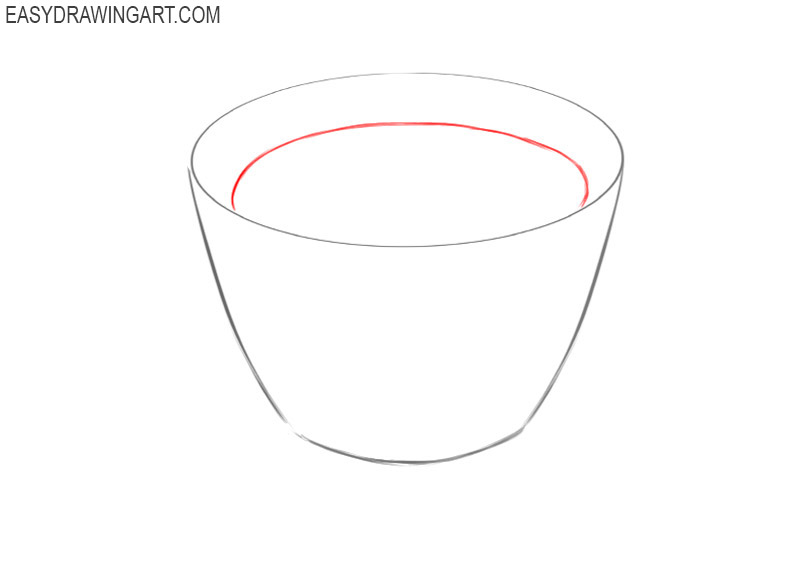 how to draw a cute coffee cup step by step