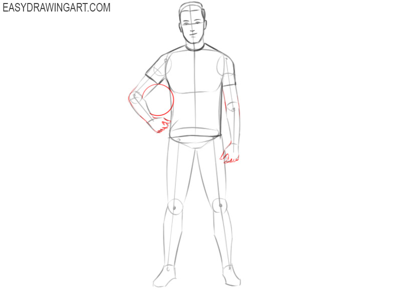 how to draw a cute football player