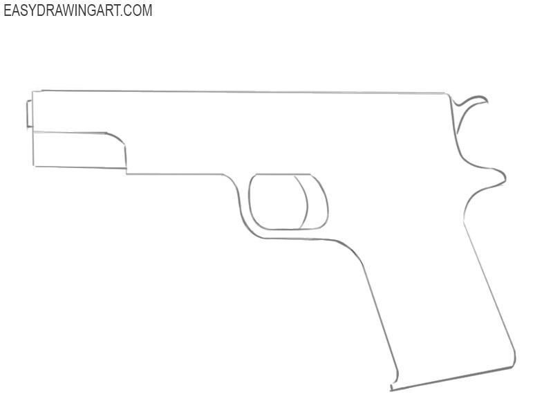 how to draw a cute gun