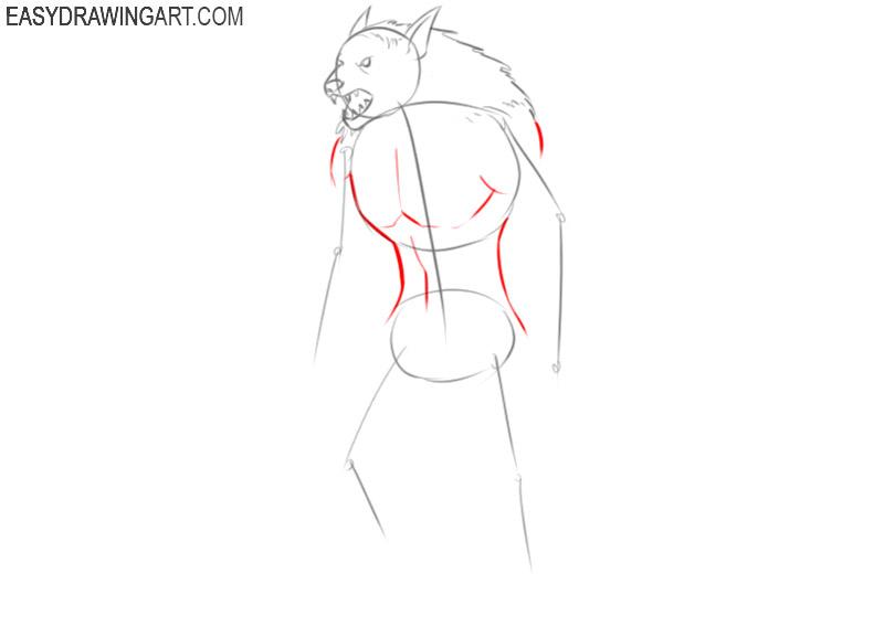 how to draw a cute werewolf
