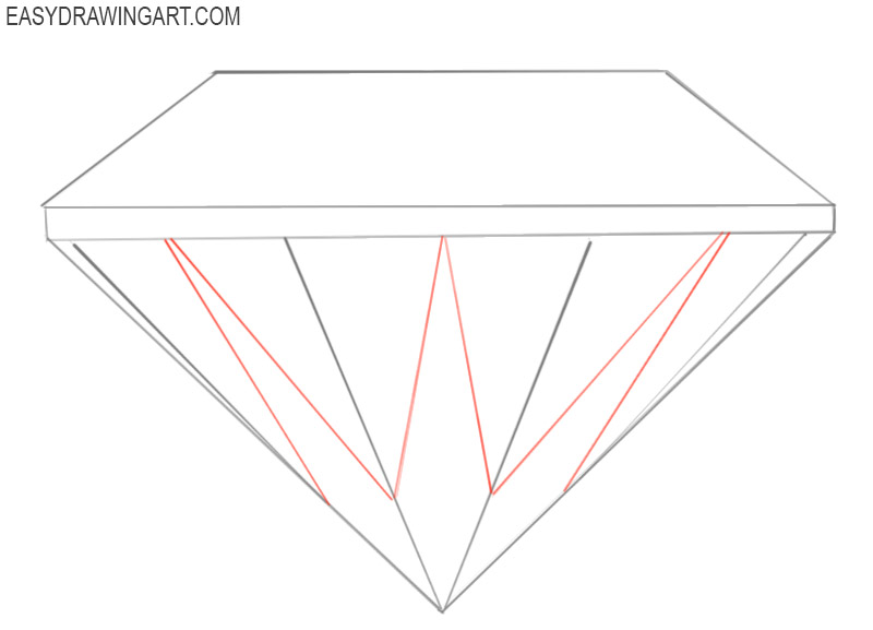 how to draw a diamond cartoon