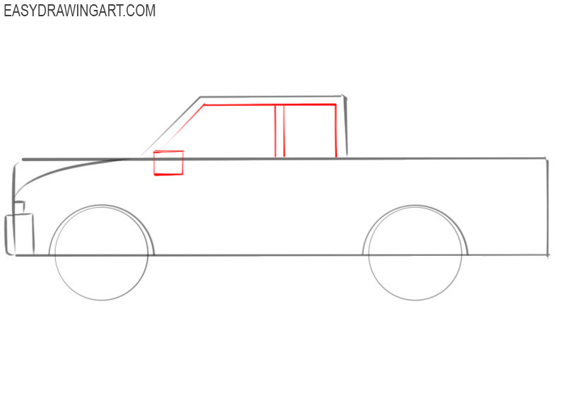 how to draw a diesel truck