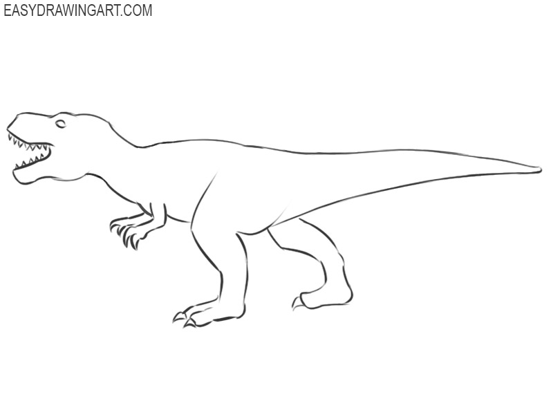 how to draw a dinosaur cartoon step by step