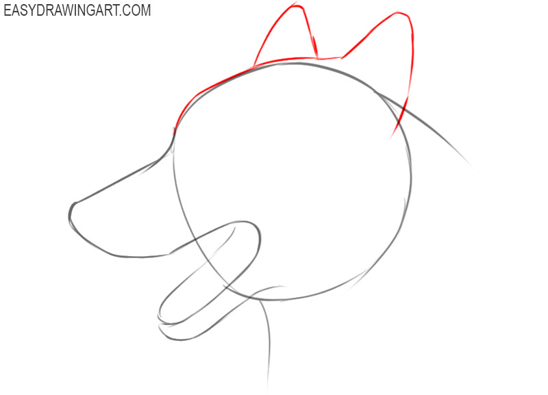 how to draw a dog face easy step by step