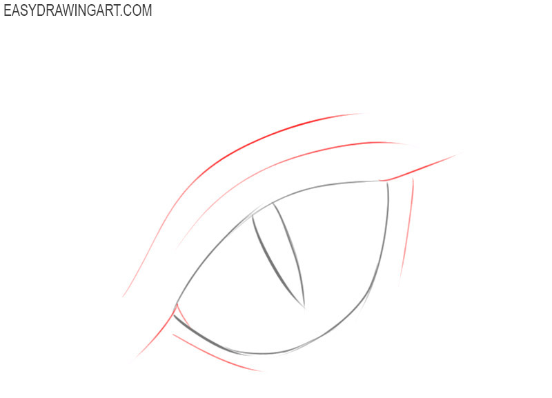 how to draw a dragon eye simple