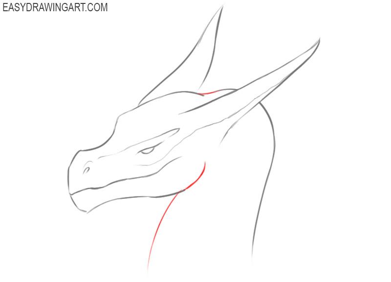 how to draw a dragon head cute