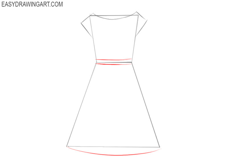 how to draw a dress beginners