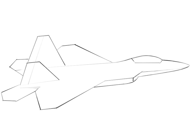 How To Draw A Jet Easy Drawing Art