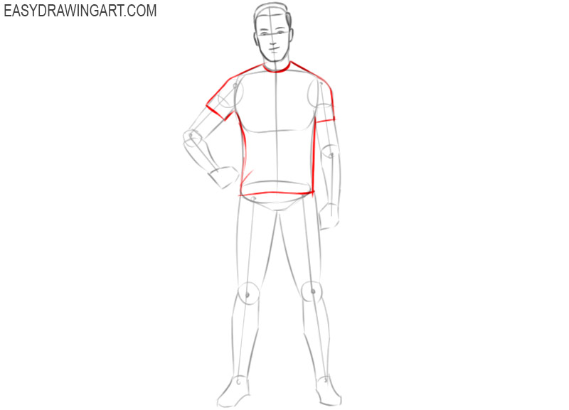 how to draw a english football player step by step