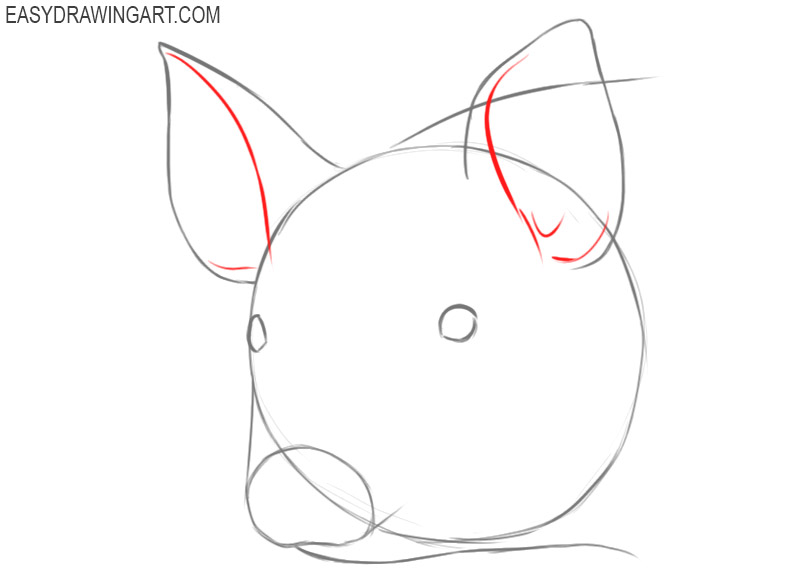 how to draw a face of a pig