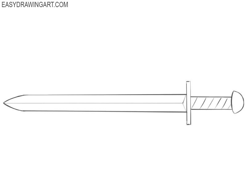 how to draw a fantasy sword